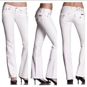 Miss Me | White Bootcut Jeans